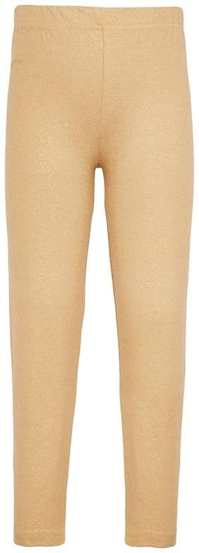 Sera Cotton Solid Leggings - Beige