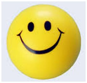 (SET OF 10)  SMILEY FACE SQUEEZE SOFT PLAYING BALL