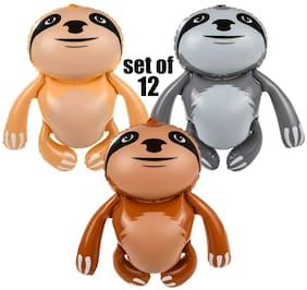 "(Set of 12) 24"" Sloth monkey Animal - Inflate Blow Up Toy Party Decoration"