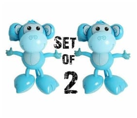 (Set of 2) 24''  Blue Big Footed Monkeys Inflatables - Inflate Party Decorations