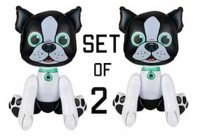 """(Set of 2) 24"""" Pug Puppy Dogs Inflatable -  Inflate Blow Up Toy Party Decoration"""
