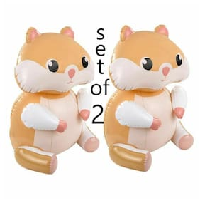 "(Set of 2) 24"" Tan Hamsters Inflatable Pool Inflate Blow Up Toy Party Decoration"