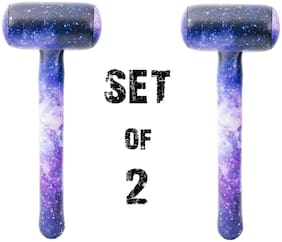 "(Set of 2) 37"" Galaxy Printed Mallet Inflatable Space Inflate  Party Decoration"