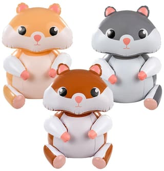 """(Set of 3) 24"""" Hamster Inflatable - Gerbil Animal Inflate Blow Up Toy Decoration"""