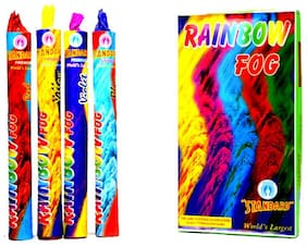 Set of 4 Holi rainbow Smoke fog Air Color Gulal Party Celebration Holi color