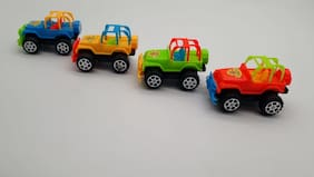 Set of 4 mini moving Cars