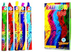 Set of 5 Holi rainbow Smoke fog Air Color Gulal Party Celebration Holi color