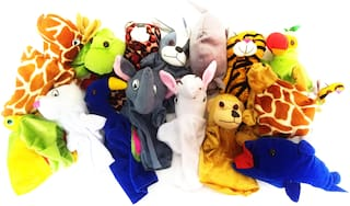 Set Of 5Pcs. Random Hand Puppets Soft Toys For kids