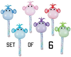 """(Set Of 6) 36"""" Lollipop Monkeys Inflatable Baby Inflate Up Toy Party Decoration"""