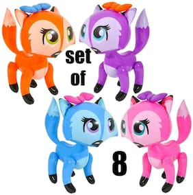 """(Set of 8) 24"""" Bowed Foxes Inflatable - Inflate Blow Up Toy Party Decoration"""