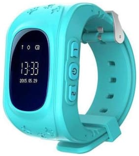 SeTracker Smartwatch Tracker for Kids with Micro Sim Card Support Smart Phone Control (Android iOS) SOS Call -Blue