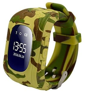 SeTracker Smartwatch with GPS Tracker Micro Sim Card Support Android/iOS Smart Phone Control SOS Call 2-Way Calling for Kids (Army)