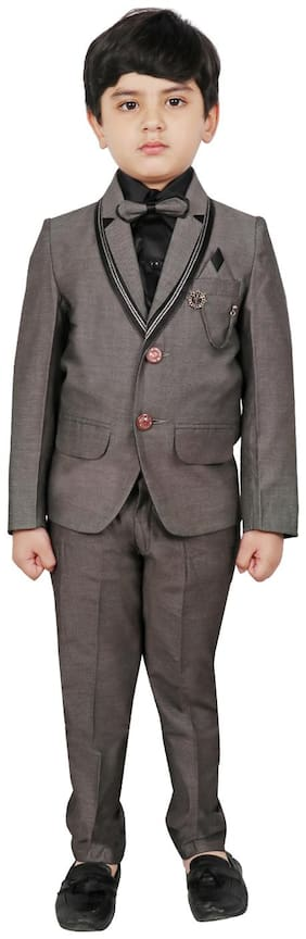 Sg Yuvraj Coat Pants With Shirt And Tie For Boys Color Gold
