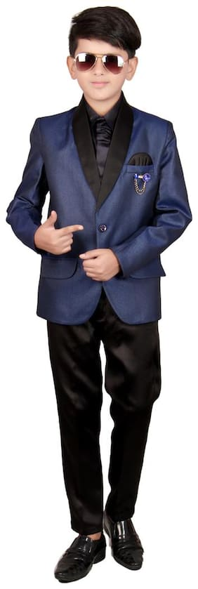 SGYUVRAJ Coat Suit With Pant and Tie Set