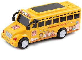 Shanaya 6 inch Die Cast Friction School Bus with Music & 3D Lights