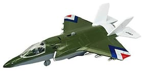 Shanaya Army Fighter Plane Metal Die Cast Pull Back Toy For Kids  ( Color may vary )