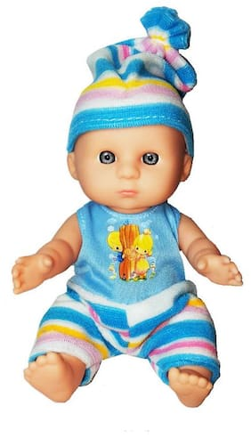 Shanaya Baba/Baby Doll with 3D Shining Eyes, Soft Body & Real Dress - Assorted Models