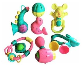 Shanaya Baby Musical Rattle Toys Set - Pack of 6 Rattle  (Multicolor)