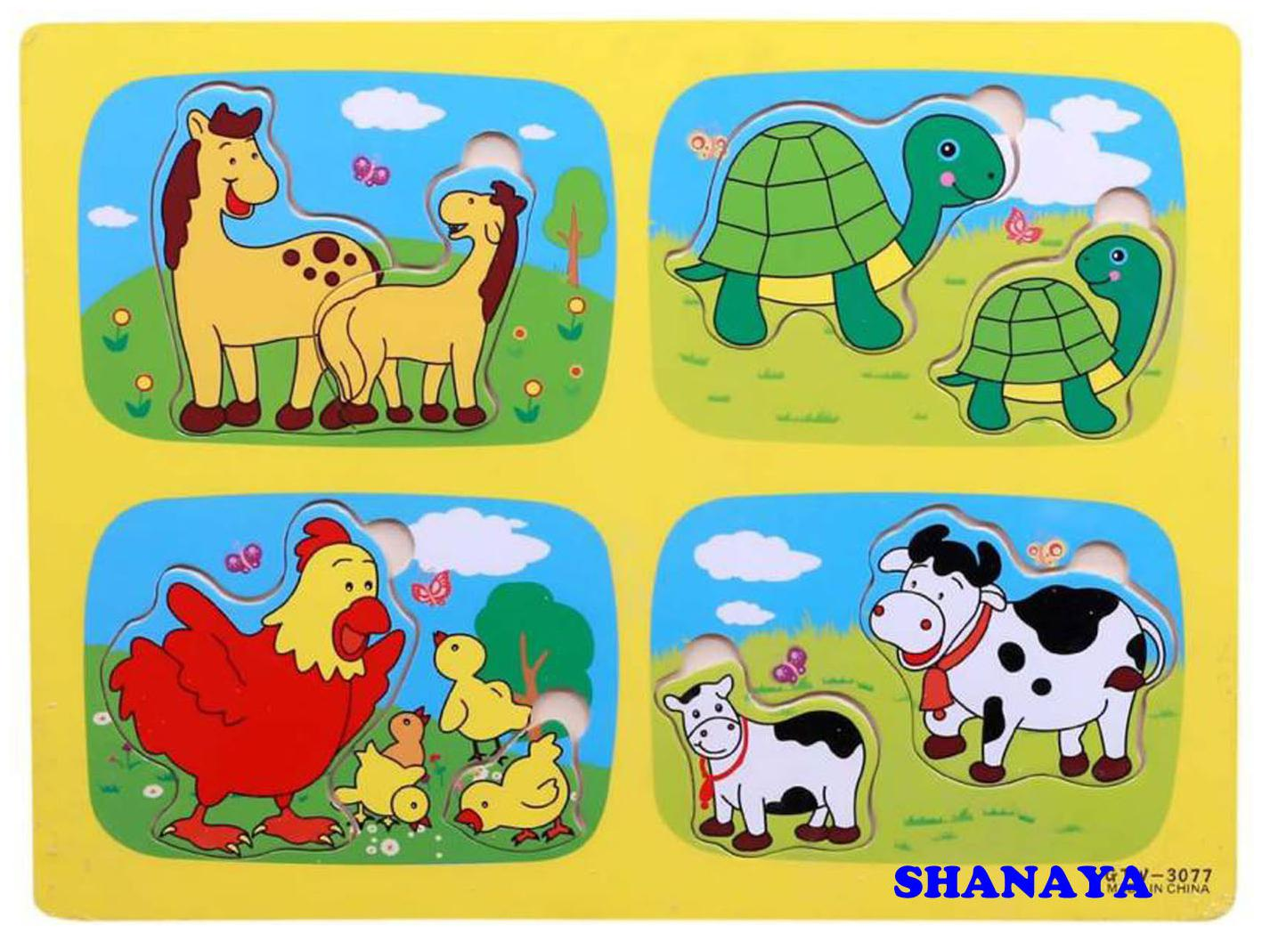 SHANAYA Colorful Wooden Jigsaw Puzzle Educational Learning Toy for Kids  Children  Boys  Girls  Wild Animals  by Toys For Kids