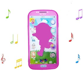 Shanaya Digital Mobile Phone with Touch Screen Feature, Amazing Sound and Light Toy - DORA Assorted