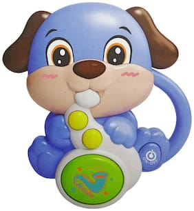 Shanaya Dog with Saxophone Musical Learning Toy with Light and Sound Effects for Kids