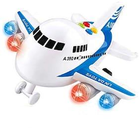 Shanaya Friction Powered Super Jumbo A380 Die Cast Plane  (Multicolor)