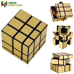 Shanaya High Speed Gold Mirror Magic 3x3 Cube Puzzle Game Toy