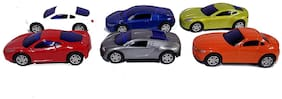 Shanaya  Luxury & Sports Car Metal Die-Cast Pull Back Action Vehicles Play Set-Pack Of 6