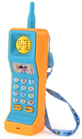 Shanaya Mobile Phone for Kids, Toys with Music  (Blue)