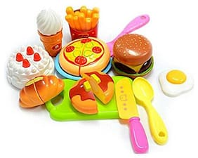 Shanaya  Toys Exclusive Collection of Realistic Sliceable Fruits;Vegetables;Fast Food;Bakery Products;Cake;Doughnuts for Girls and Boys (Fast Food)