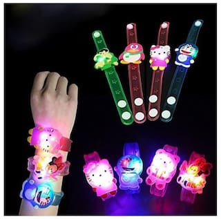 Shararat Birthday Return Gifts For Kids Play Bracelets Perfect Online Cartoon Characters Led Light