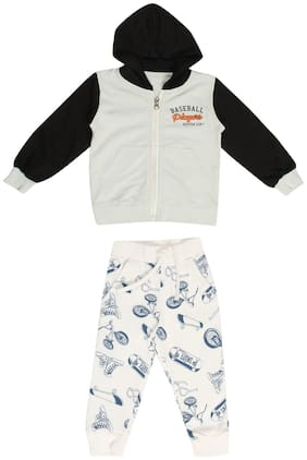 SHARK BABY Baby Boy Cotton Printed Winter Jacket - Multi