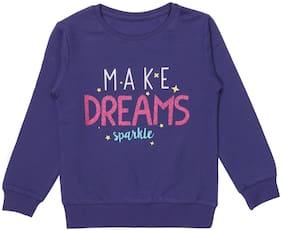 SharkTribe Girl Cotton Printed Sweatshirt - Purple