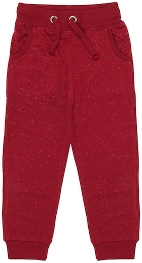 SharkTribe Girl Cotton Trousers - Red
