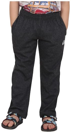 Shellocks Boy Cotton Track pants - Grey