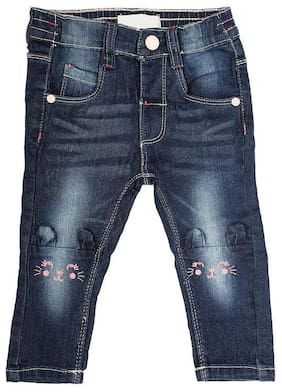 Shishu Baby girl Denim Solid Jeans - Pink