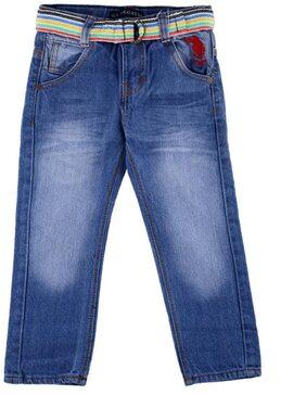 Shishu Boy Solid Jeans - Blue