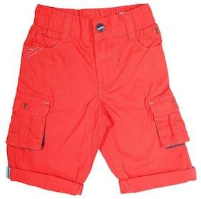 Shishu Boy Solid Capri - Red