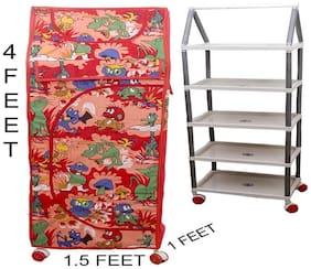 SHISHU.ONLINE Plastic Kids Almirah - 5 Shelf