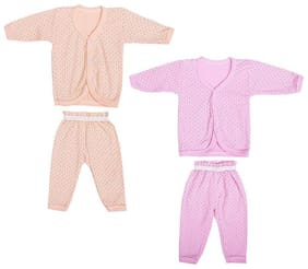 Shishu Baby girl Top & bottom set - Pink & Orange