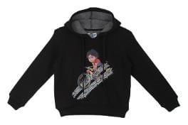 Shiva Boy Cotton Solid Sweatshirt - Black