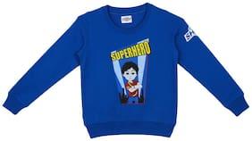 Shiva Boy Cotton Solid Sweatshirt - Blue
