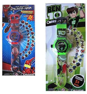Shop And Shoppee Combo Of Spiderman And Ben 10 Projector Wristband