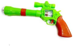 Shop And Shoppee Projection And Musical Strike Electric Toy Gun For Kids