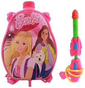 Shop Online Holi Pressure Water Gun Pichkari with Back Pack Tank Squirter In Kids Favourite Characters -Barbie
