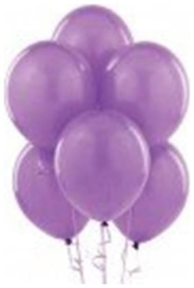 Shop Online Pack of 50 Mettalic Latex Balloon - Purple - Size 9 Inch