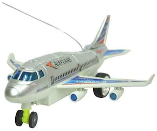 Shop & Shoppee White And Silver RC Aeroplane