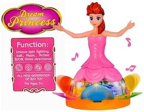 Shop & Shoppee 3D Light Music Dancing Princess Girl Robot  (Assorted)