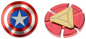 Shop & Shoppee Premium Quality Metallic Captain America & Iron Man Ultra Speed Fidget Spinner Toy  (Assorted)