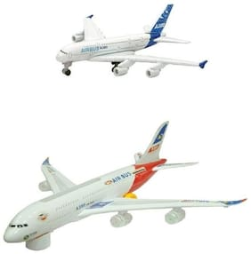 Shop & Shoppee Combo of Battery Operated Airbus Plane(Big Small)